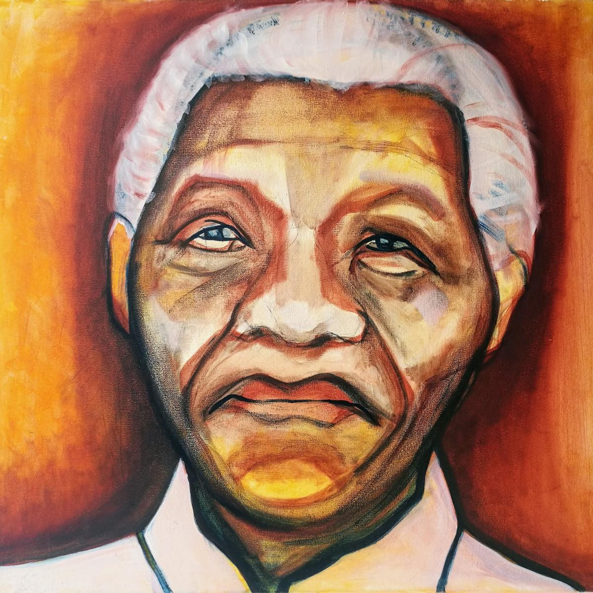 Nelson Mandela, oil on canvas, 70 x 75 cm, 2015