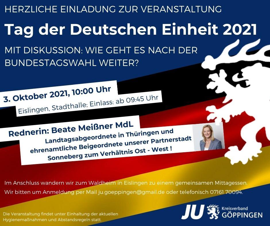 Tag der Deutschen Einheit 2021 – Das Verhältnis Ost-West und die Bundestagswahl 2021!