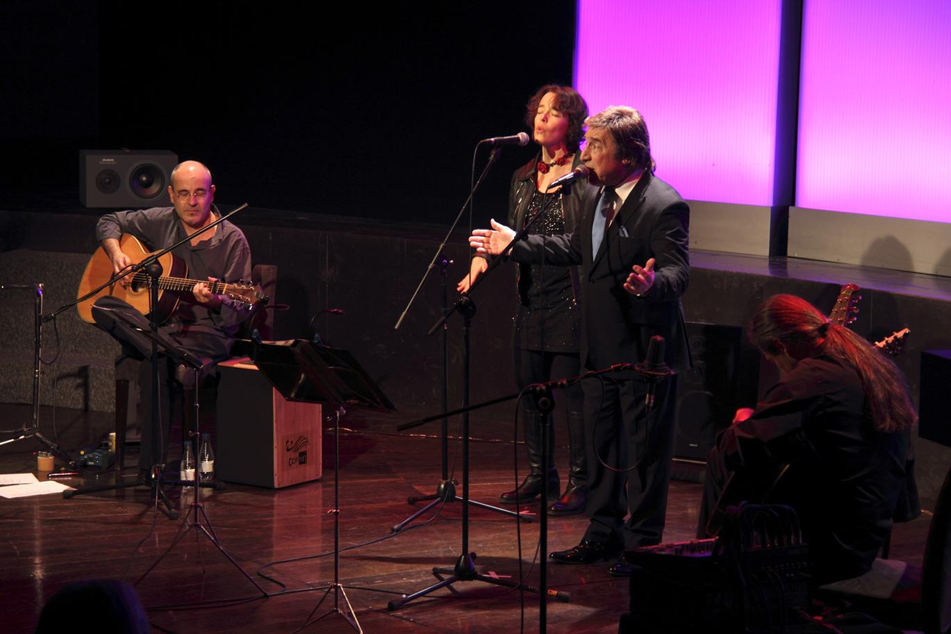 Isidro Solera, Carmen Ros y Rubén Melogno