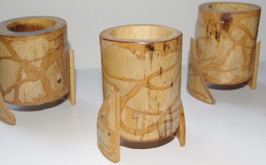 Photophore bambou / Bamboo candle holder