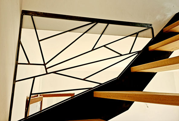 Escalier bois metal 2/4