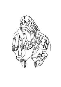 Faltung 5: Heran, schwebende Figur