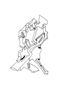 Faltung 3: Steinroboter