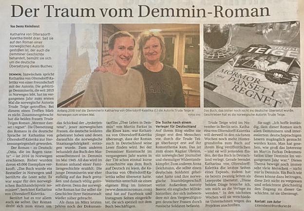 Nordkurier / Demminer Zeitung 26.09.2019