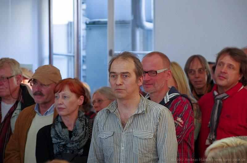 Event Nr. 2, Vernissage Antje Peters - Musik Reinhard Schulte & Anja Hinkelmann, Lesung Mone Hartman