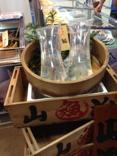 函館の真イカです。 弊社社長が当朝に函館から会場に持ち込んだもの。
