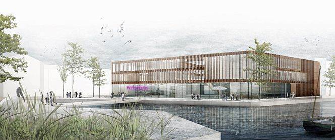 Das Stuttgarter Büro MGF plant das neue KörberHaus (Grafik: MGF Architekten)
