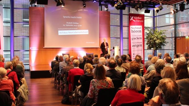 Die Debatten zu aktuellen Themen im KörberForum sind gut besucht (Foto: Claudia Höhne)