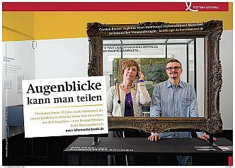 Plakat der Kampagne »Neue Lebensarbeitszeit – Zeit für Engagement« (Foto: Isadora Tast)