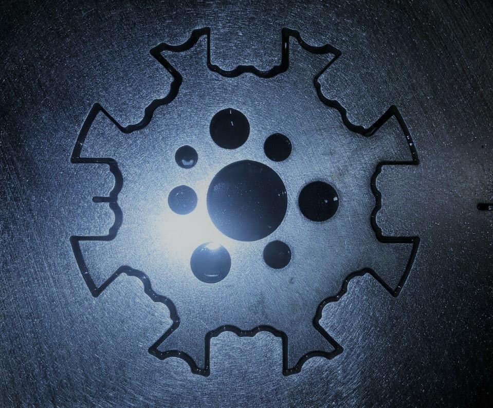 6 mm Werkzeugstahl, Distanzscheibe