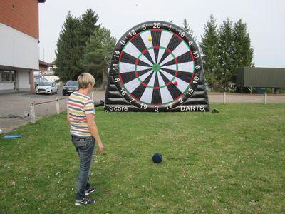 Foot Darts Fußball Dart Football Dartscheibe Klett Fußballdart Fußball Module Eventmodule mieten kaufen Torwand