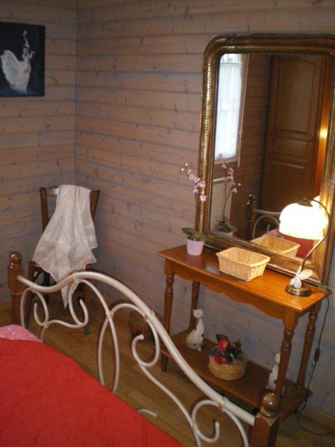 Miroir - gîte la Fontaine St Gervais - Aumont - Oise