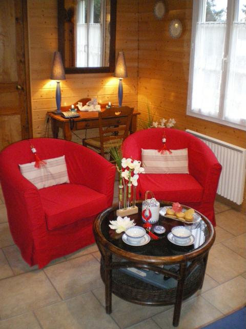 Détente au salon - gîte la Fontaine St Gervais - Aumont- Oise
