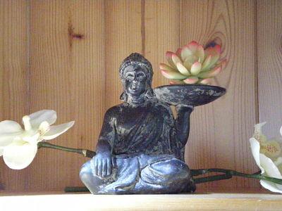 Déco zen au salon - gîte la Fontaine St Gervais - Aumont- Oise