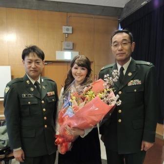 阿部隊長(右)、吉沢さん(左)と♪