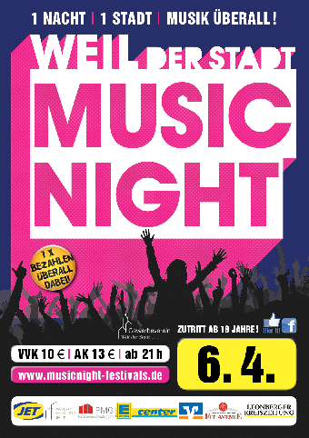 flyer music night weil der stadt 2019