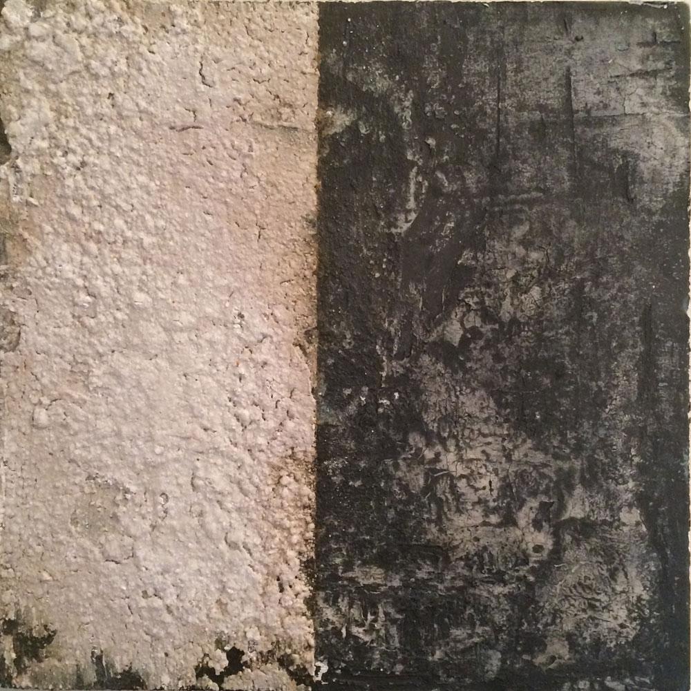 Struktur in Acryl 3 ... Wabenplatte ... 30 x 30 cm (auch als Tryptichon mit 1 und 2)