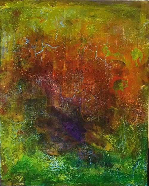 Triptychon mit Wachs 3 mit Wachs, Kreide, Tusche    ...   jeweils 50 x 70   ...    im Set mit 1 und 2 oder einzeln