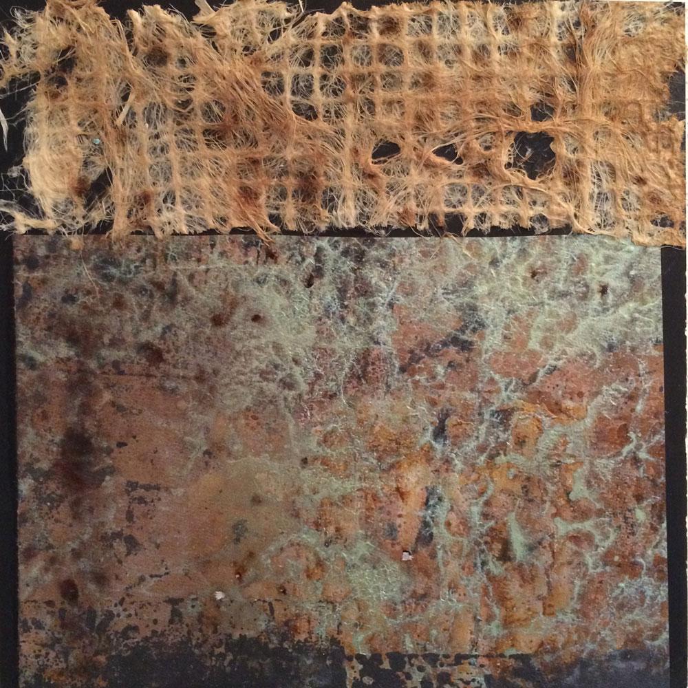 Struktur in Acryl 1 ... Wabenplatte ... 30 x 30 cm (auch als Tryptichon mit 2 und 3)