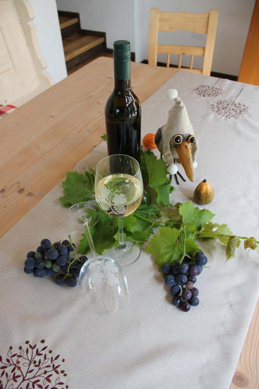 auf ein Gläschen südsteirischen Wein im Wintergarten