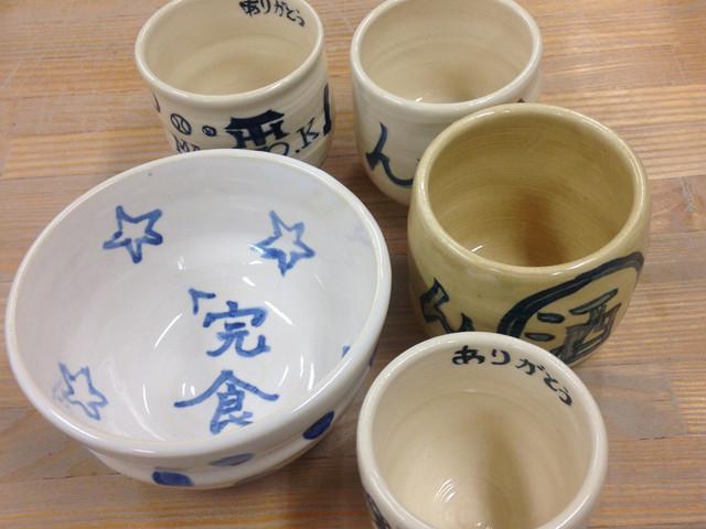 陶芸体験「ブライダルコース」作品