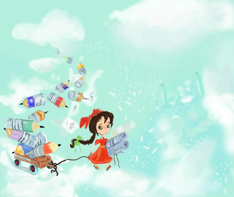 Mädchen in den Wolken, http://www.Tutorialized.com