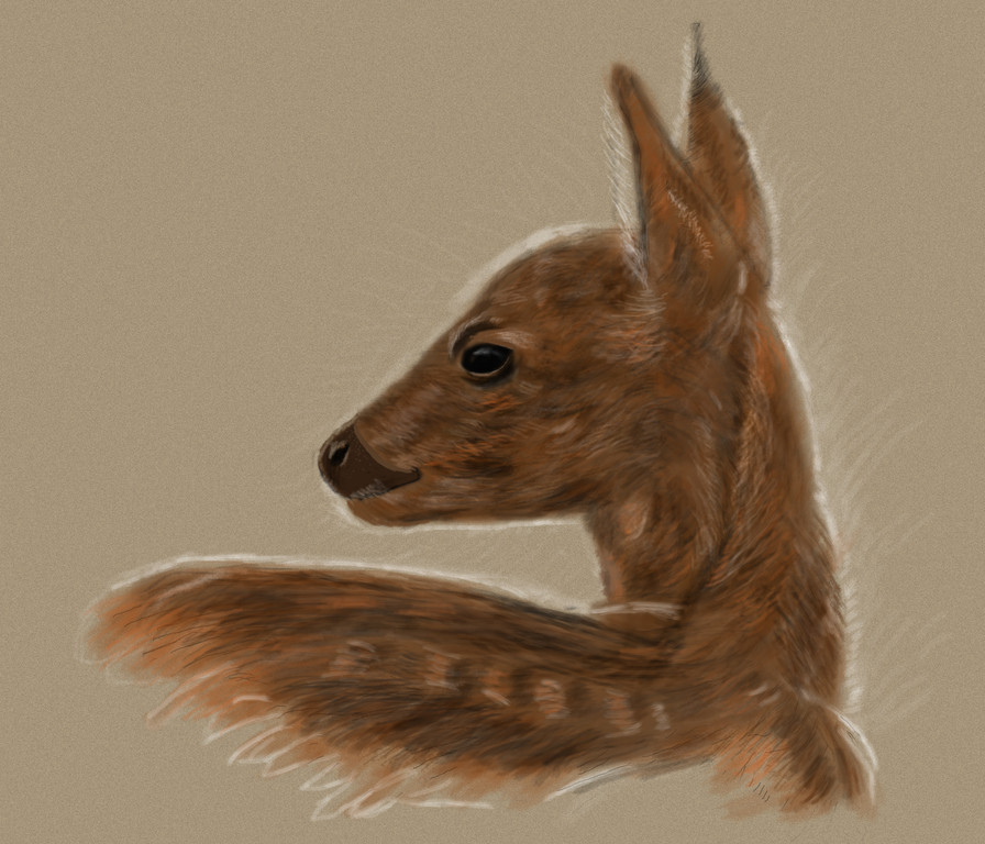 Bambi, Freude am Malen