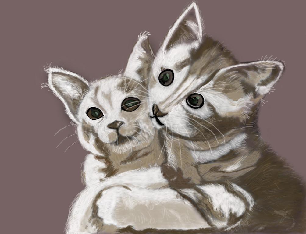 Kätzchen, Freude am Malen