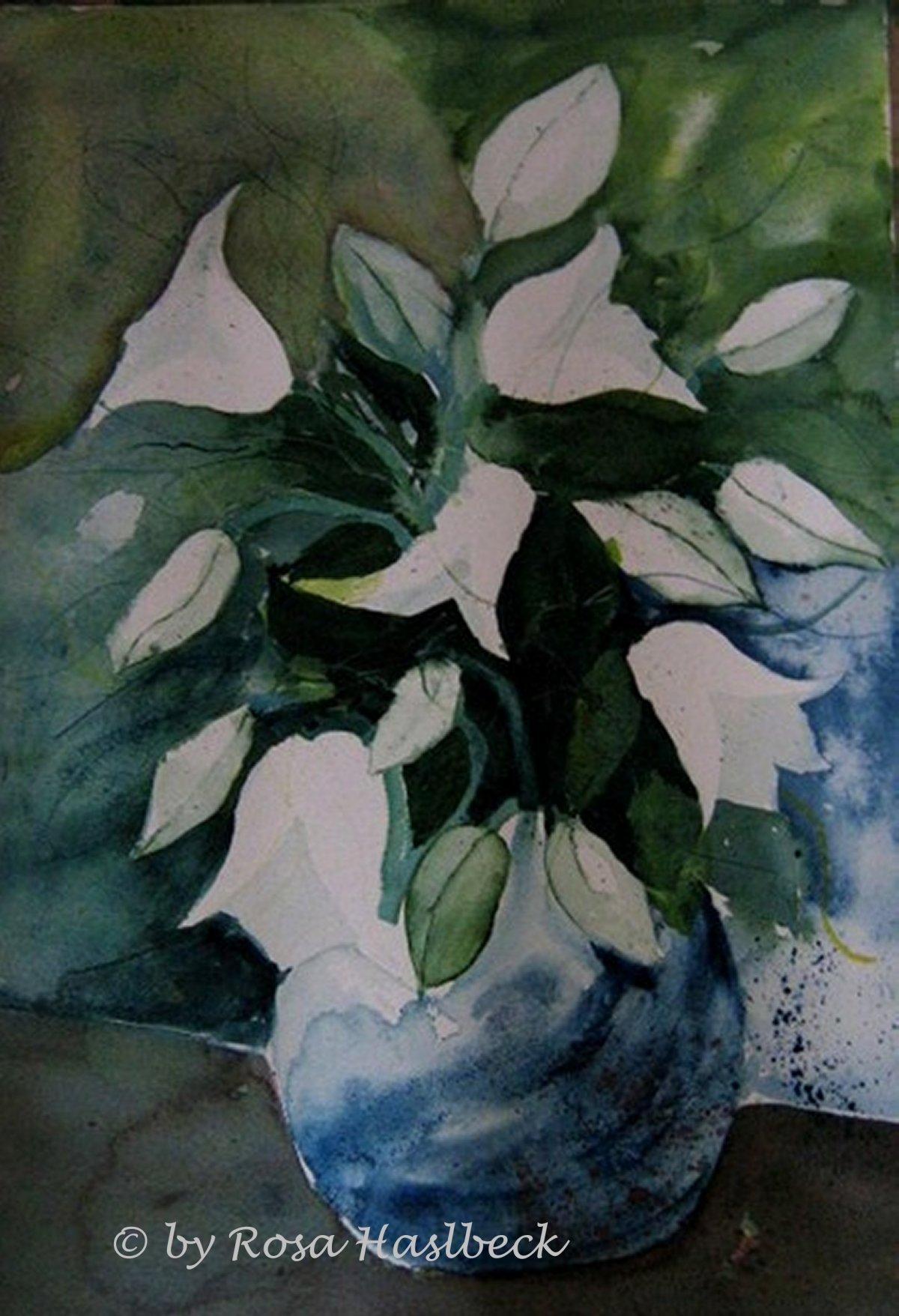 aquarell, blumenaquarell, blumen, weiße blumen, weiß, malerei, malen, kunst, bild, dekoration, wandbild, handgemalt, art,aquarell kaufen, kunst kaufen, bild kaufen