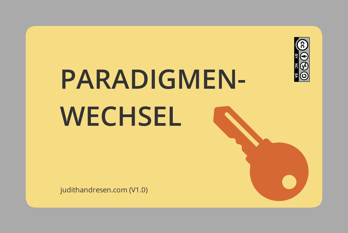 Paradigmenwechsel - das zweite Kartenset ist da!
