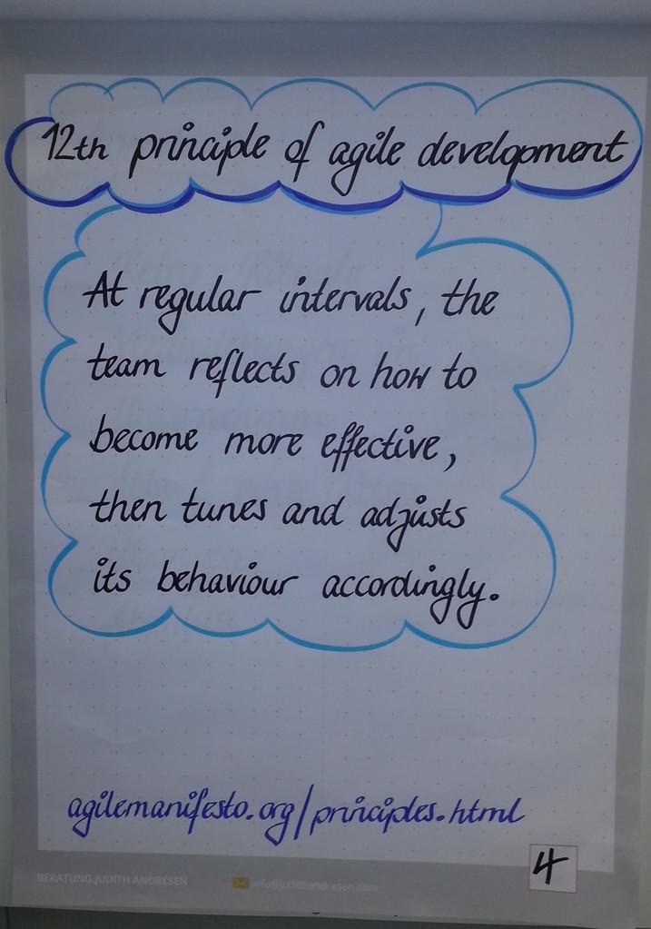 12tes Prinzip des Agilen Manifests