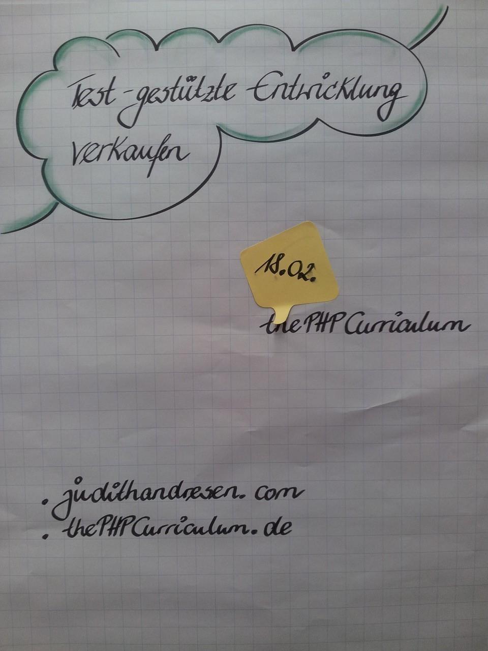 Testgestützte Entwicklung verkaufen (judithandresen.com/thePHPCurriculum.de)