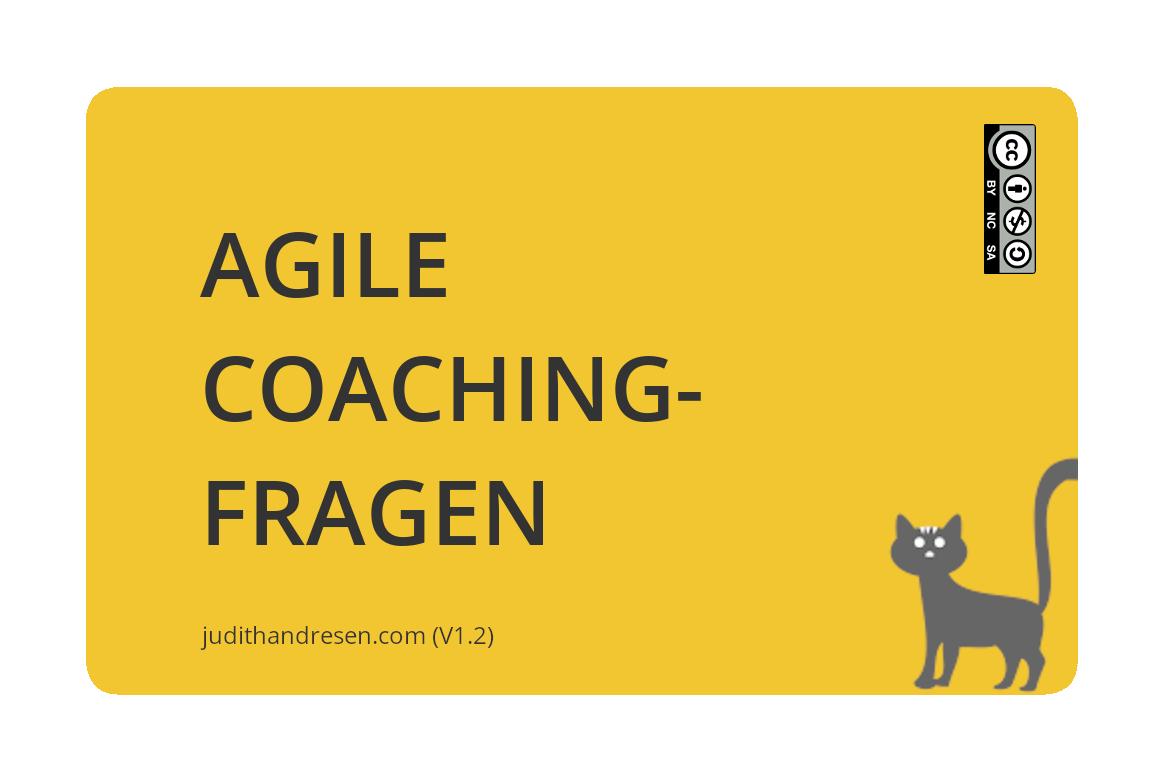 Agile Coachingfragen - bestellt jetzt das Kartenset!