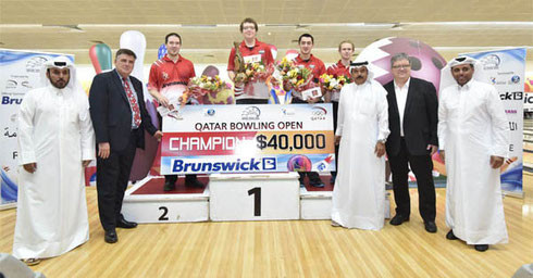 15th Qatar Open Winners: Cameron Weier (USA) - Champion, Sean Rash (USA) - 2nd Place, Marshall Kent (USA) - 3rd Place, and Thomas Larsen (Denmark) - 4th Place.
