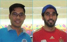 (L-R) Rey Alfaro (Div A) and Ali Al-Ali (Div B)