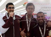 (L-R): Ghanim, Jassim, & Coach Mohd. Al-Shaabi