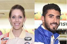 Danielle McEwan (USA) and Yousif Falah (Bahrain)