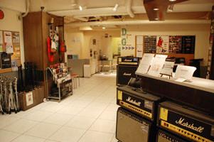 使用する貸し音楽スタジオフロントの様子