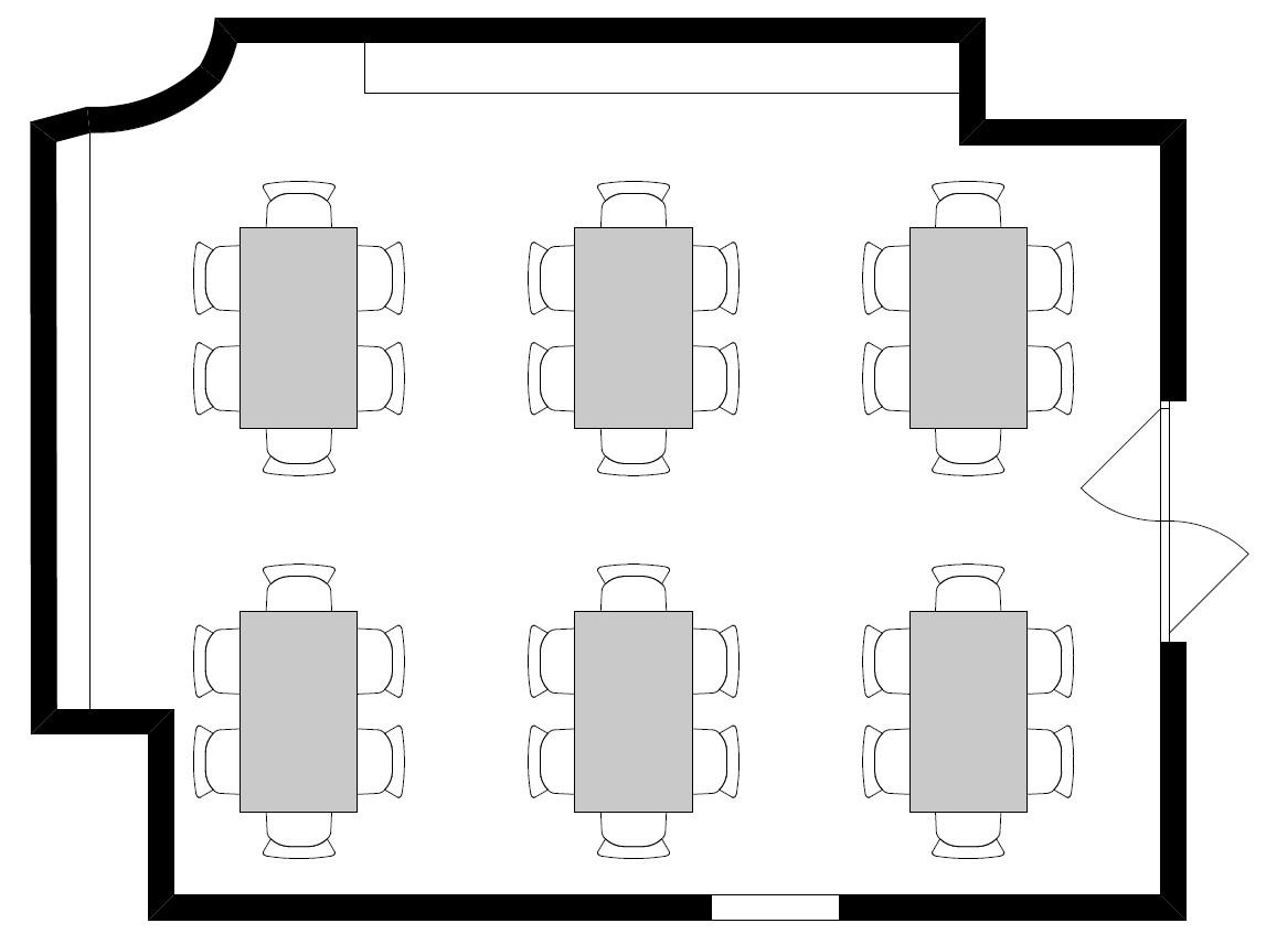 Variante 2: Sixpack (6 Tische / 36 Personen)