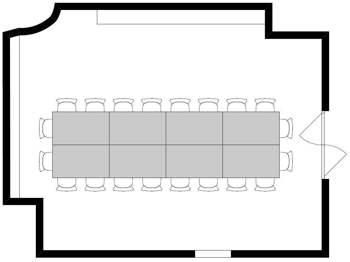 Variante 3: Block (8 Tische / 20 Personen)