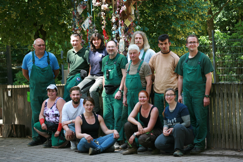 Das Tierpfleger-Team Wildpark Pforzheim