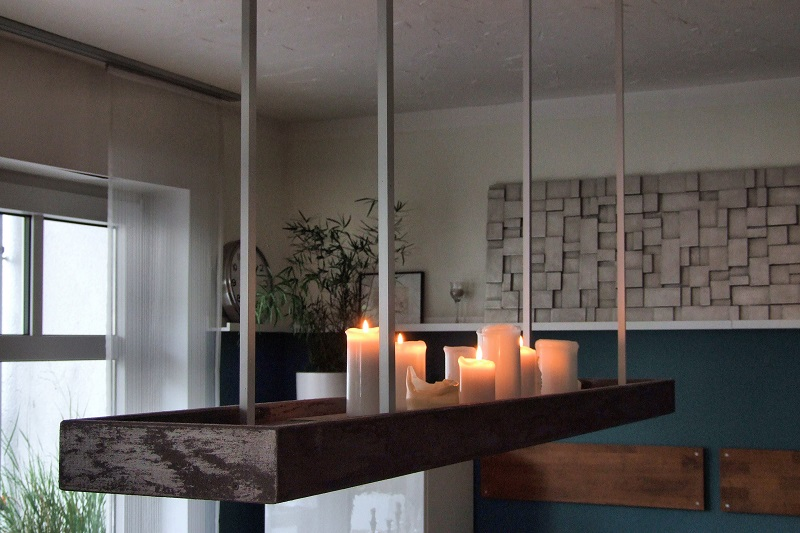 Lampe mit Kerzen