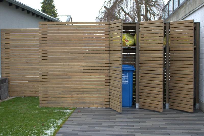 Tonnenbox incl. Sichtschutz