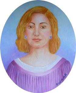 Lady in Purple 8.5 x 6.5