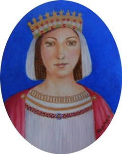 Leonor I of Navarre, Spain 7 x 6 cm