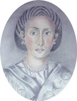 Gala Placidia, Roman Empress  9 x 7 cm