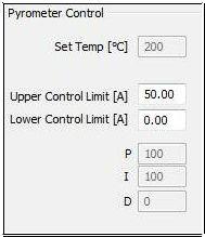 加工温度モニター画面
