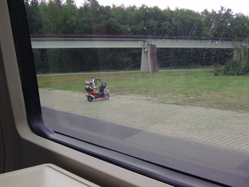 ... ein Blick aus dem Zug auf meine C1