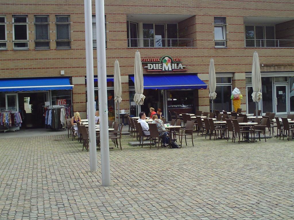 ... mein Parkplatz im Blickfeld der Webcam von Bad Bentheim