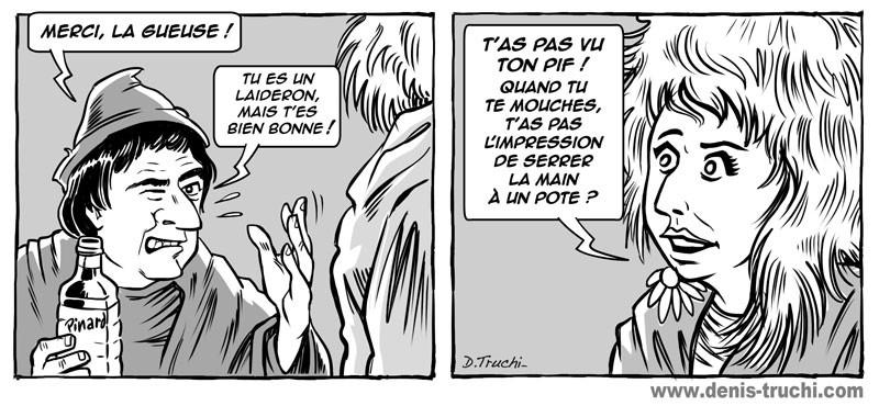"""Illustration réalisée pour """"Les meilleures répliques du cinéma"""" (First Editions) Les visiteurs"""
